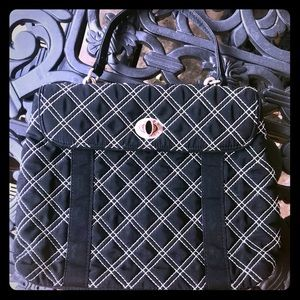 Vera Bradley small black and white quilted purse